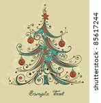 christmas tree vector... | Shutterstock .eps vector #85617244