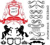 set of heraldic silhouettes... | Shutterstock .eps vector #85618660