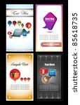 futuristic name card collection | Shutterstock .eps vector #85618735