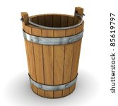 Wooden bucket - stock photo