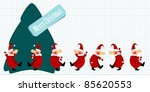 christmas santa claus and a... | Shutterstock .eps vector #85620553