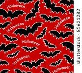 halloween bats seamless pattern - stock vector