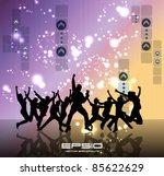 dancing people   Shutterstock .eps vector #85622629
