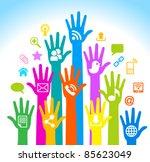media human mobile.the... | Shutterstock .eps vector #85623049