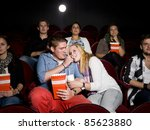 young couple at the movie... | Shutterstock . vector #85623880