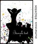 beautiful woman silhouette | Shutterstock .eps vector #85624504