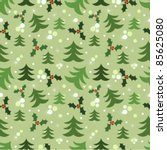 Christmas seamless pattern. Vector illustration - stock vector
