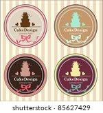 cake banners | Shutterstock .eps vector #85627429