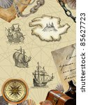 pirate map | Shutterstock . vector #85627723