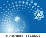 blue background with spiral of... | Shutterstock .eps vector #85628029