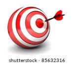 dart right on the target   Shutterstock . vector #85632316