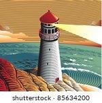 summer point lighthouse | Shutterstock .eps vector #85634200