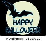 black bat | Shutterstock .eps vector #85637122