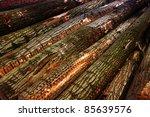 Pile Of Fresh Chopped Logs...