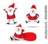 christmas santa claus | Shutterstock .eps vector #85648084