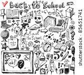 back to school sketch | Shutterstock .eps vector #85651741