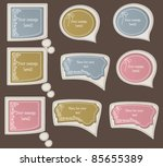 vector collection of vintage... | Shutterstock .eps vector #85655389