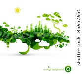 green eco town   abstract... | Shutterstock .eps vector #85657651
