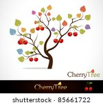 colorful cherry tree | Shutterstock .eps vector #85661722