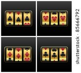 playing cards slot machine... | Shutterstock .eps vector #85666792