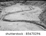 exposed lake bed in the high... | Shutterstock . vector #85670296