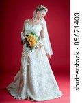 bride. beautiful woman in a... | Shutterstock . vector #85671403