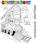 coloring book christmas topic 4 ... | Shutterstock .eps vector #85674568