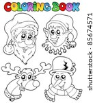 coloring book christmas topic 1 ... | Shutterstock .eps vector #85674571