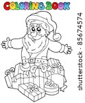 coloring book christmas topic 7 ... | Shutterstock .eps vector #85674574