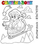 coloring book christmas topic 6 ... | Shutterstock .eps vector #85674598
