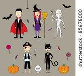 cute halloween set | Shutterstock .eps vector #85678000