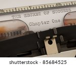Concept of success on the typewriter - stock photo
