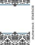 classic ornamental invitation | Shutterstock .eps vector #85685638
