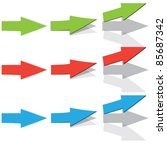 arrow set vector for design | Shutterstock .eps vector #85687342