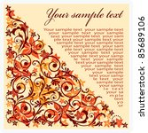 banner with floral pattern.... | Shutterstock .eps vector #85689106