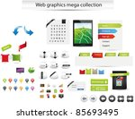 web gaphics mega collection | Shutterstock .eps vector #85693495
