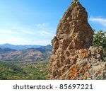 Landscape With Rock In The...