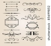vector set border design element | Shutterstock .eps vector #85699852