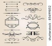 vector set border design element   Shutterstock .eps vector #85699852