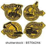 under construction stamp set | Shutterstock .eps vector #85706246