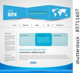 web design vector blue template ... | Shutterstock .eps vector #85711607