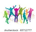 young   people on the party .... | Shutterstock .eps vector #85712777