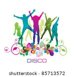 young  people on the party .  ... | Shutterstock .eps vector #85713572