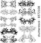 ornaments   vector | Shutterstock .eps vector #8572108