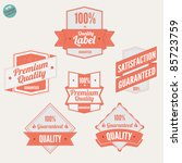 premium quality labels and... | Shutterstock .eps vector #85723759