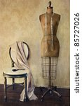 antique dress form and chair... | Shutterstock . vector #85727026
