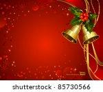 festive  bells  with christmas... | Shutterstock .eps vector #85730566