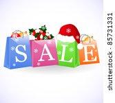 christmas shopping bags   Shutterstock .eps vector #85731331
