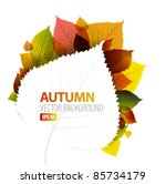 autumn abstract floral... | Shutterstock .eps vector #85734179