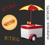 vector illustration of a hot... | Shutterstock .eps vector #85734791